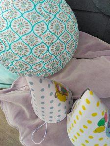 Lampion mit Hüten zum Krebsessen schwedisch