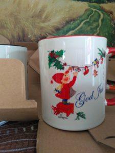 Tasse Jultomte Frisch ausgepackt