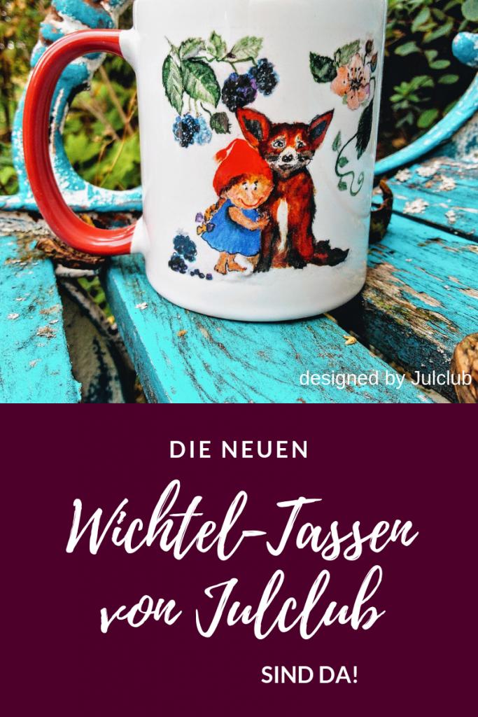 Wichtel-Tasse Björnbär mit Wichtel, Fuchs und Brombeeren