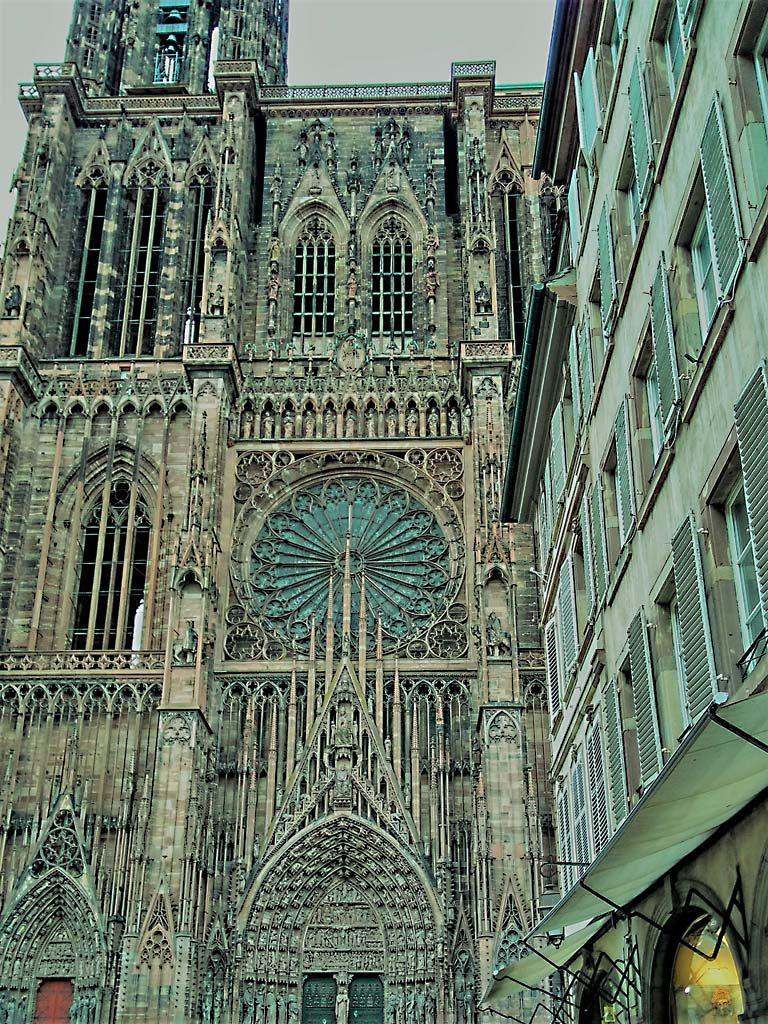 Straßburg_Strasbourg_Kathedrale_Cathedrale_Münster_Vorderansicht