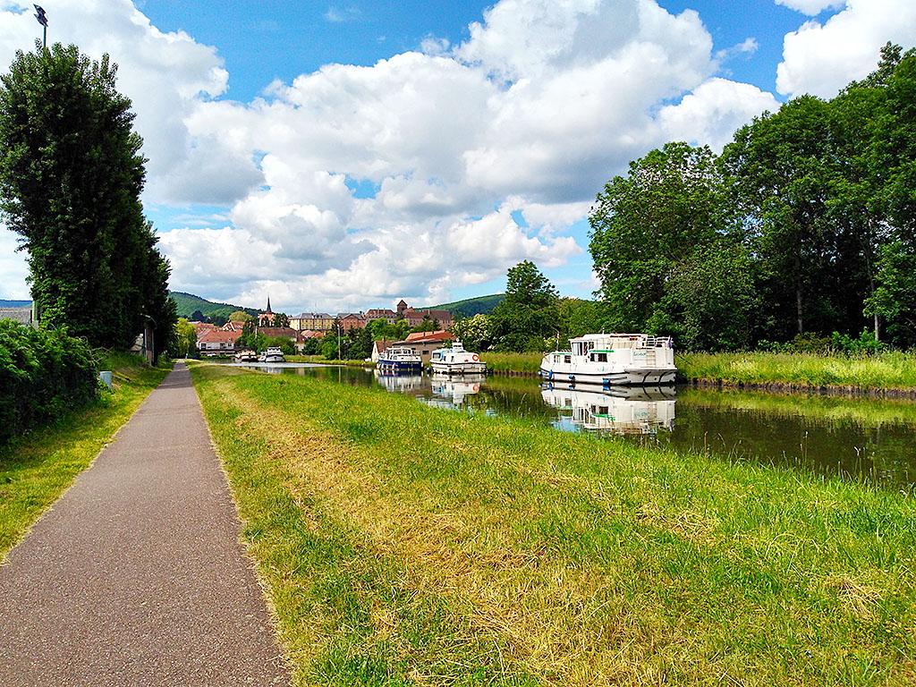 Fahrradweg Canal Marne Rhin Elsass, Alsace