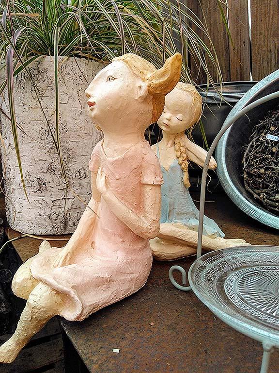 Skulpturen für den Garten bei Heinrich und Bothe, Saarlouis-Fraulautern, Saarland