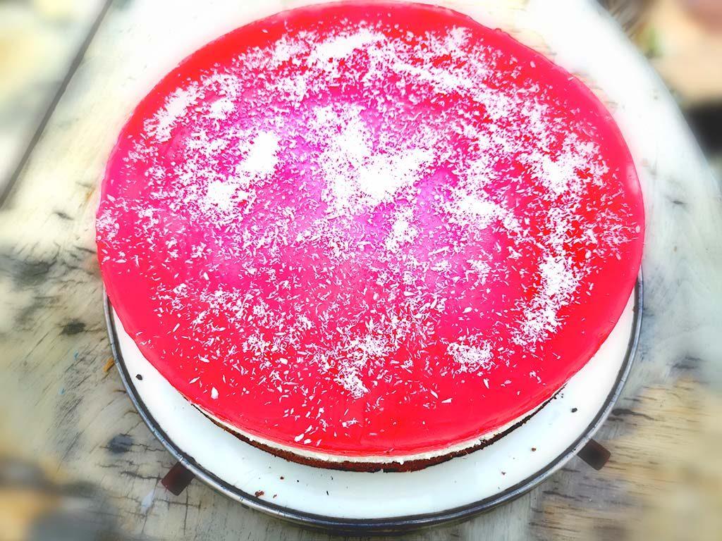 Schneewittchen-Torte snövit-tårta